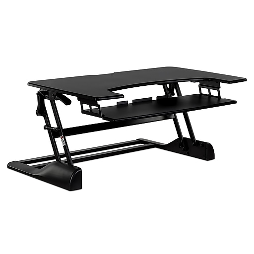 "Mount-It! 48"" Standing Desk Height Adjustable Riser with Gas Spring Lift, Metal (MI-7925)"