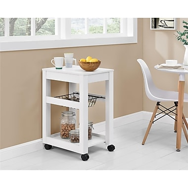 Altra Parsons Storage Cart, Wood, White (9255396COM)