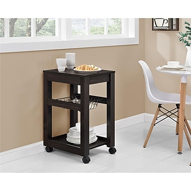 Altra Parsons Storage Cart, Wood, Espresso, (9255296COM)