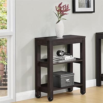 Altra Parsons Wide Storage Cart, Wood, Espresso (9256296COM)