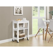 Altra Parsons Wide Storage Cart, Wood, White (9256396COM)
