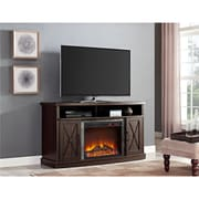 """Ameriwood Home Parsons Electric Fireplace for TVs up to 65"""" Wide, White (1816296)"""