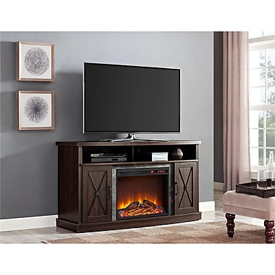 Ameriwood Home Barrow Creek Electric Fireplace TV Stand for 60