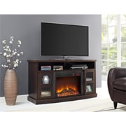 """Ameriwood Home Barrow Creek Fireplace Console with Glass Doors for TVs up to 60"""" (1807096COM)"""