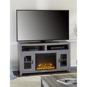 """Ameriwood Home Carver Electric Fireplace TV Stand for TVs up to 60"""", Gray (1774096COM)"""