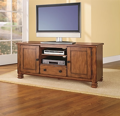 Ameriwood Home Summit Mountain TV Stand Medium Brown (98296)
