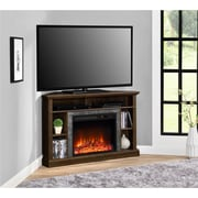 "Ameriwood Home Overland Electric Corner Fireplace for TVs up to 50"" Wide, Espresso (1805096COM)"