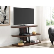 "Altra Edgewood TV Console with Fireplace for TVs up to 60"", Distressed Brown Oak (1819096)"