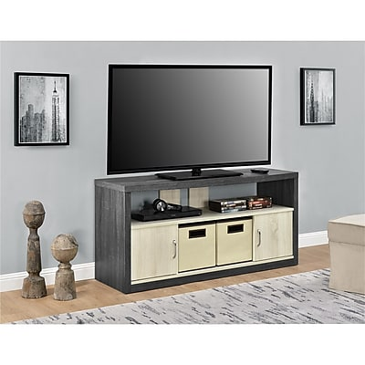 Altra Winlen Tv Stand For Tvs Up To 50 With 2 Fabric Bins Espresso