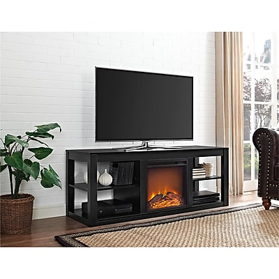 Ameriwood Home Parsons Electric Fireplace TV Stand for TVs up to 65
