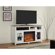 """Ameriwood Home Carver Electric Fireplace TV Stand for TVs up to 60"""", White (1774296COM)"""