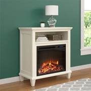"Altra Ellington Electric Fireplace Accent Table TV Stand for TVs up to 32"", Ivory (5032096COM)"