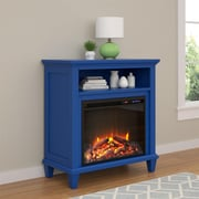 "Altra Ellington Electric Fireplace Accent Table TV Stand for TVs up to 32"", Blue (5032396COM)"