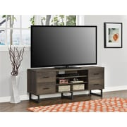 """Ameriwood Home Candon TV Stand with Bins for TVs up to 60"""", Distressed Brown Oak (1802096COM)"""
