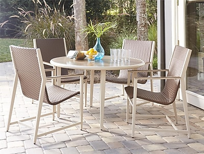 Mid-Century Modern 5 Piece Monterey Valley Mixed Media Patio Dining Set (88638DBCE)