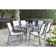 7 Piece Paloma Patio Steel Dining Set (88647GLGE)
