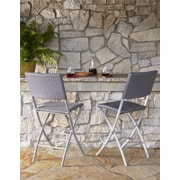 Transitional 2 Pack Delray High Top Folding Patio Bistro Stools (87644BGB2E)