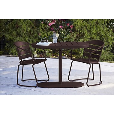 3 Piece Metro Retro Nesting Bistro Steel Patio Furniture Set (87800SBDE)