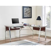 Altra Wingate Glass Top L Desk, Cherry (9105296COM)