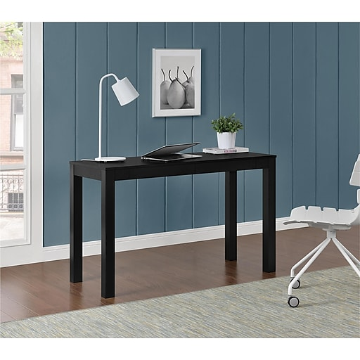 Parsons Table Desk With Drawers: Altra Large Parsons Desk With 2 Drawers, Black (9889496COM