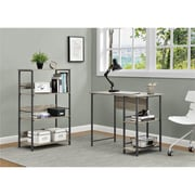 Altra Garrett Metal Student Desk and Bookcase Combo, Sonoma Oak/Gunmetal Gray (9254196COM)