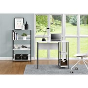 Altra Garrett Metal Student Desk and Bookcase Combo, White/Gunmetal Gray (9254096COM)