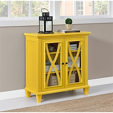 Altra Ellington Double Door Accent Cabinet, Yellow (5042496COM)