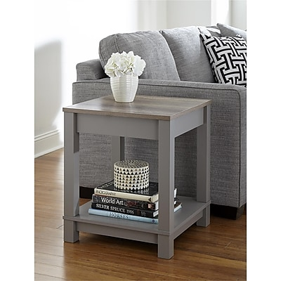 Altra Carver End Table, Gray/Sonoma Oak (5046096COM)