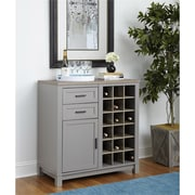Altra Carver Bar Cabinet, Gray/Sonoma Oak (5277196COM)
