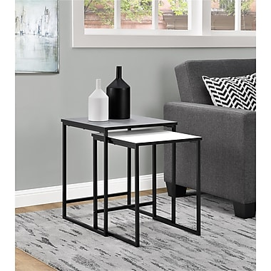 Altra Stewart Nesting Tables, Gray and White (5027096COM)