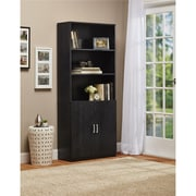 Altra Moberly Bookcase with Doors, Black Oak (9478026COM)