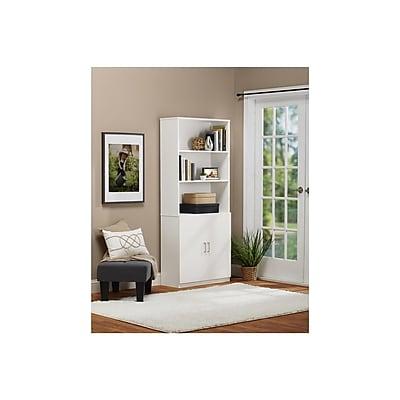 Altra Wildwood Wood Veneer Bookcase/Room Divider, Mahogany (9631196)