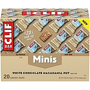 Clif Mini Energy Bars, White Chocolate Macadamia Nut, 1.0 oz.,20/Box (CCC37295)
