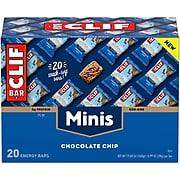 ClifMini Energy Bars,Chocolate Chip, 1.0 oz.,20/Box (CCC37654)