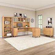 Bush Furniture Somerset 72W L Shaped Desk, Maple Cross (WC81410K)