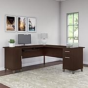 Bush Furniture Somerset 72W L Shaped Desk, Mocha Cherry (WC81810K)