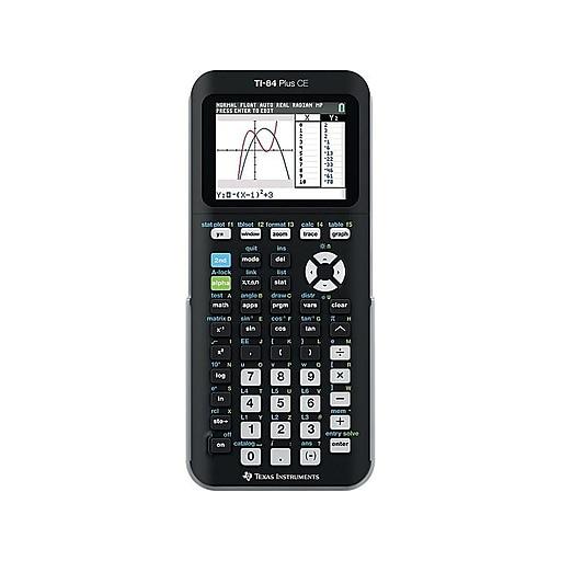Texas Instruments TI-84 Plus CE 10-Digit Graphing Calculator, Black