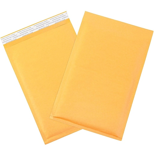 "10 1/2"" X 16"" Premium Cushion Kraft Bubble Mailer #5 Made in USA, 100 Per Pack"