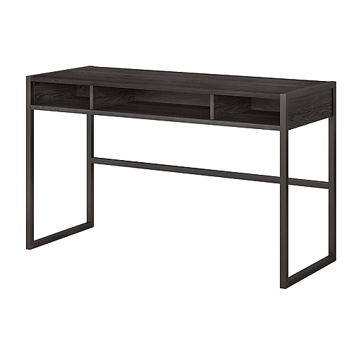 Office by kathy ireland® Atria 48W x 20D Console Table, Charcoal Gray (ATR007CR)