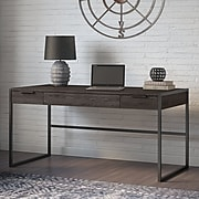 Office by kathy ireland® Atria 60W x 30D Writing Desk with Drawers, Charcoal Gray (ARD160CR)