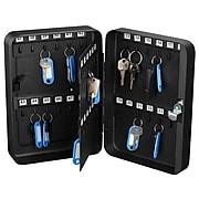 AdirOffice 48 Key Key-Lock Cabinet, Black (681-48-BLK)