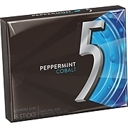 5 Gum Peppermint Cobalt Sugar Free Gum, 15 Sticks ( WMW51220)