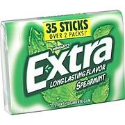Extra Gum Spearmint Sugar Free Gum, 35 Sticks (WMW27611)