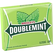 Wrigley's Doublemint Chewing Gum, 15 Sticks (WMW21735)