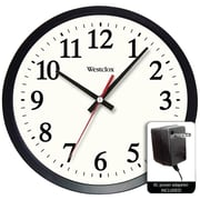 "Westclox 32189a 14"" Round Electric Powered Office Wall Clock"