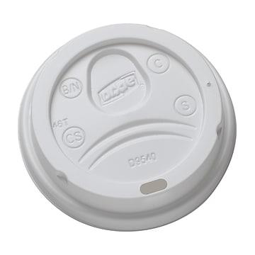 Dixie Dome Plastic Hot Cup Lids, 10 oz., White, 1000/Carton (DL9540)