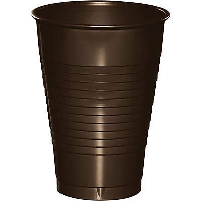 Touch of Color Chocolate Brown 12 oz Plastic Cups 20 pk (28303871) 2634410
