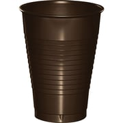 Touch of Color Chocolate Brown 12 oz Plastic Cups 20 pk (28303871)