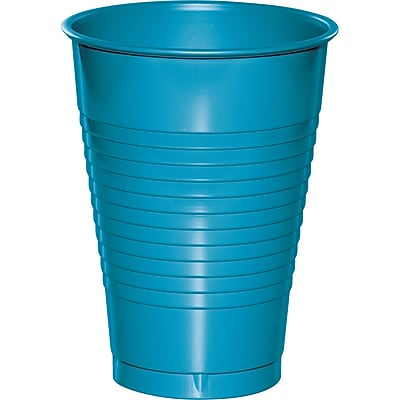 Touch of Color Turquoise Blue 12 oz Plastic Cups 20 pk (28313171)
