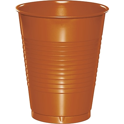 Touch of Color Pumpkin Spice Orange 16 oz Plastic Cups 20 pk (323389) 2634406